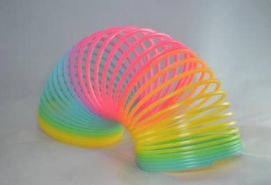 Rainbow Spring toy/ mainan