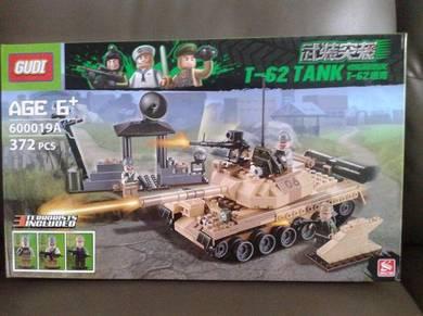 Brick T-62 Tank 600019A Gudi