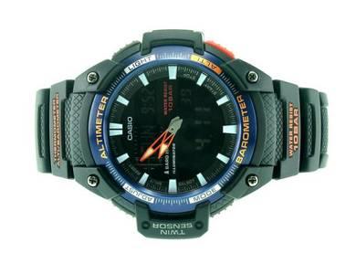 Casio Men Twin Sensor Rubber Watch SGW-450H-2BDR