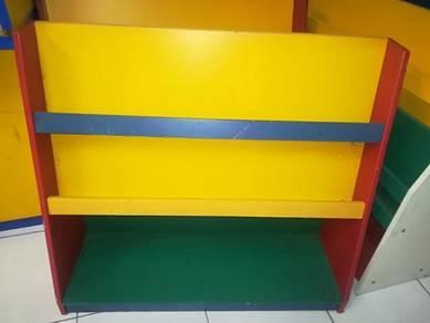 Kindergarden book shelves. 3 units.