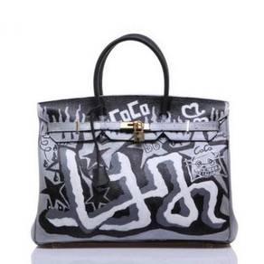 Handbag bag graffiti slingbag black RBHB013