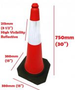 Parking safety cone 30