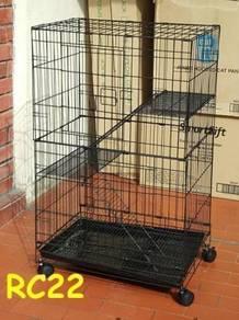 BARU Sangkar kucing 2 tingkat FREE 1 BOWL MAKAN