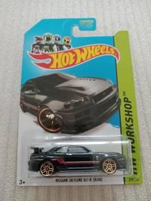 Hotwheels Nissan Skyline R34 Workshop Black