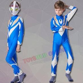 Ultraman Blue Tiga Children Kids Costume