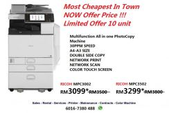 Ricoh mpc3002 all in one photocopy