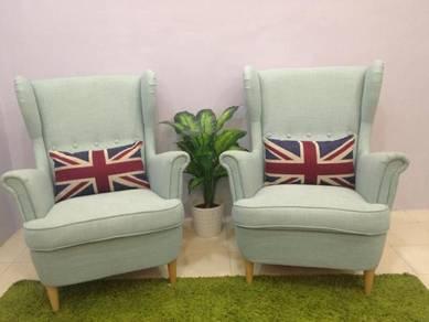 Kerusi sofa (Ikea Strandmon Wing Chair)
