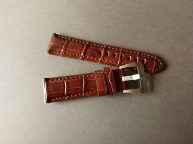 PANERAIPAM 22mm Brown Genuine Leather Watch Strap