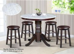 Round Marble Table with stools 1+4