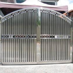 Memasang pagar gate steel,awning,grill kerja besi