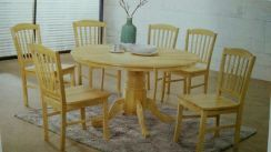 Round dining table 1+6 #4089