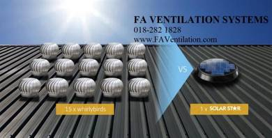 17QJNM FA Solar / Wind Air Vent Exhaust Fan US