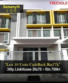 3 Storey Link Landed Residence for SALE