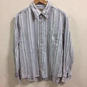 Kansai Jeans White Shirt Size L button up