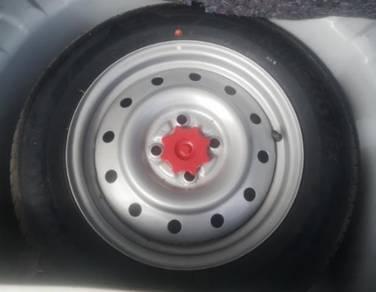 Perodua Axia Spare Tyre
