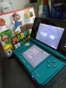 Nintendo 3DS (Aqua Blue) + 2 Game Tape