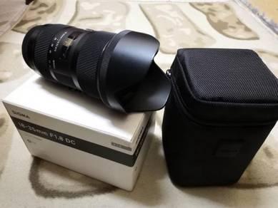 Sigma art 18-35mm F1.8 DC (Canon)