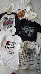 Combo tshirt pelbagai size m L