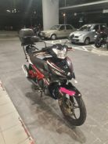 2013 Yamaha 135LC Motor rip top x penah xcident