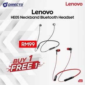LENOVO HE06 NeckBand Headset BT5.0 - BELI 1 FREE 1