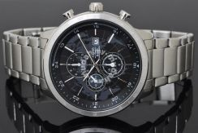Alba Men Chronograph Map Dial Watch YM92-X167BS