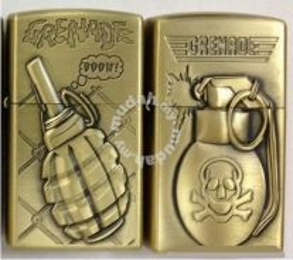 Zippo lighter grenade boow