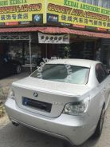 BMW E60 msport rear bonnet spoiler Oem ABS