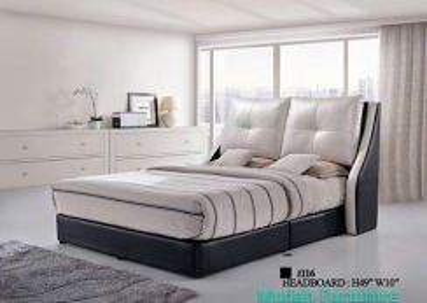 LOKONY Leather Frame +Divan Bed