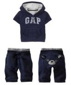 Baby GAP 100 % cotton shirt + pants GREY BLUE RED