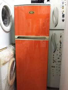 Color Fridge Refrigerator Sharp Peti Ais Orange