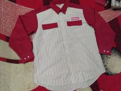 Eneos staff shirt long sleeve size l
