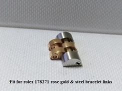 Rolex 178271 mid size rose gold steel links