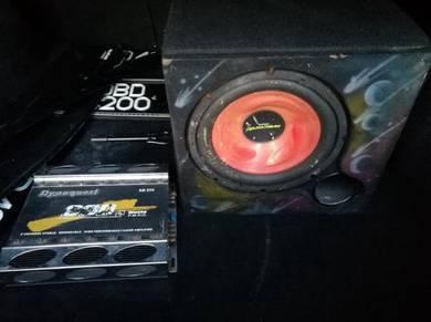 Power amp dan speaker box nk letgo murah2