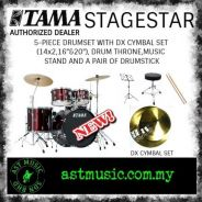Tama Stage star Complete Drum Set With Cymbals-Red