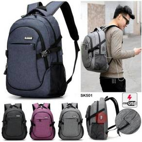 Beg Backpack Multifunction USB Charging