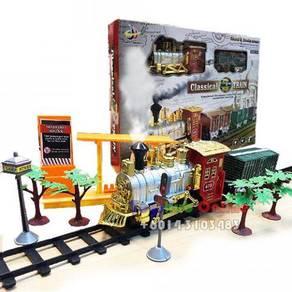 Train Set Toy with smoke,Light and Sound (Big)