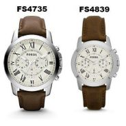 Fossil PAIR Grant Chronograph Brown Leather
