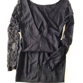 Inditex Lace Sleeve Dress