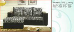 Dimension l-shape sofa-8553
