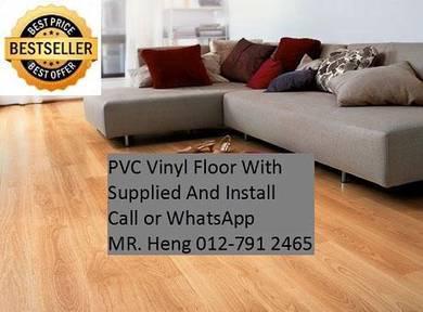 PVC Vinyl Floor In Excellent Install d76hy8