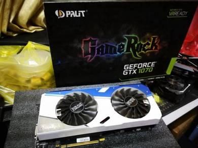 PALIT GameRock GTX1070 8GB GDDR5 TERMURAH