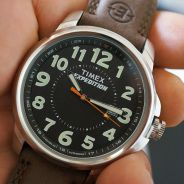 Timex watch Expedition Brown Leather