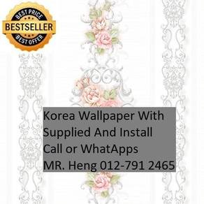 Pretty Wallcovering with Installation 9iu