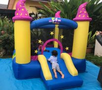 Magic wizard bounce house castle