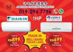 Brand New Aircond GREE/HAIER 699 direct factory