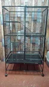 Sangkar Kucing Platform tengah - Cat cage 3 Tingka