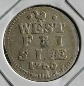Duit Syiling West Fri Siae 2 Stuiver 1760