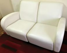 Two-Seat Sofa Solid Wood Base