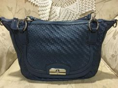 Preloved Coach Woven Handbag