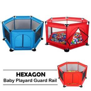 Hexagon play pen / play fence 07